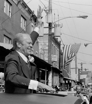 The 38th president of the United States, Gerald R. Ford, restored credibility to the White House after the previous commander-in-chief resigned in disgrace. As House Minority leader, Ford visited Richmond on March 3, 1966.