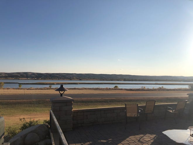 The view of the Missouri River from the Cattleman's Club Steakhouse in Pierre.