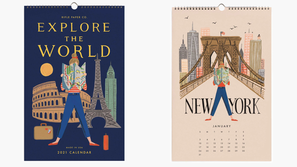 The best gifts for travelers: Rifle Paper Co. Wall Calendar
