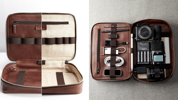 The best gifts for travelers: CapraLeather Electronics Organizer