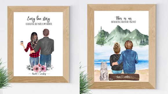 Best gifts for couples: Custom portrait