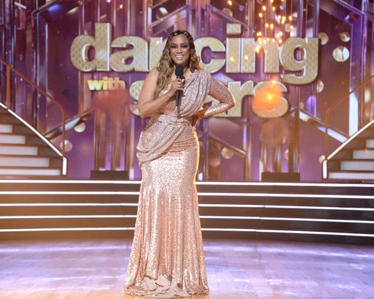 """""""Dancing with the Stars"""" host Tyra Banks."""
