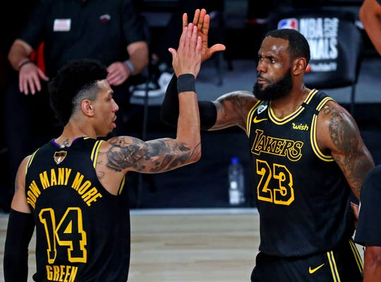 LeBron James, Danny Green and the Lakers have closed out their first three playoff opponents in Game 5.