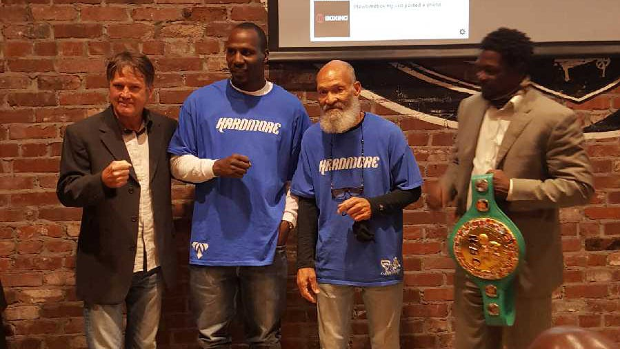 Sean O'Grady former world lightweight champion, Eric Fields, Jr., two-time National Golden Gloves champion and trainer Garry Raymond and former middleweight champion Jermaine Taylor were recently recognized during the 2020 Oklahoma Boxing Reunion Ring of Honor in Tulsa.