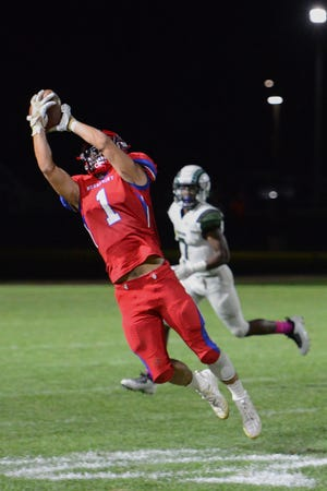 Neshaminy receiver Gavin O'Connor makes a catch in an Oct. 9 loss to Pennridge.