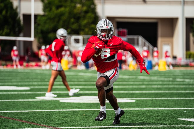 At 6 feet 1, Trey Sermon is taller than most recent Ohio State tailbacks, but the senior transfer from Oklahoma can cover a lot of ground quickly with his deceptive speed.
