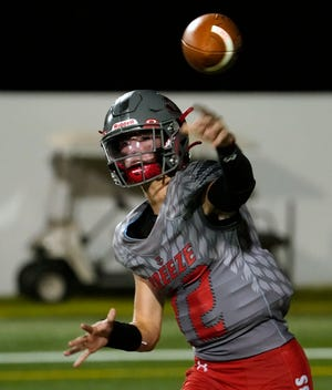 Seabreeze's Blake Boda has thrown for 544 yards, five touchdowns and two interceptions during his sophomore season.