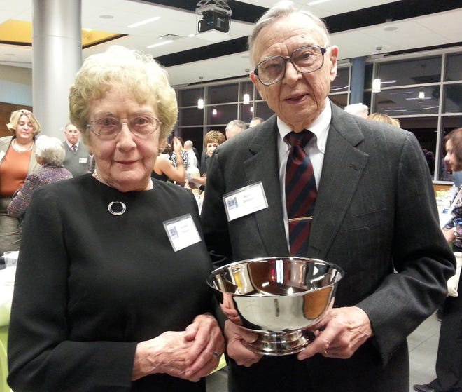 Caroline and Byron Delavan, shortly after he received the Canandaigua Chamber of Commerce's Mr. Canandaigua award in 2017.