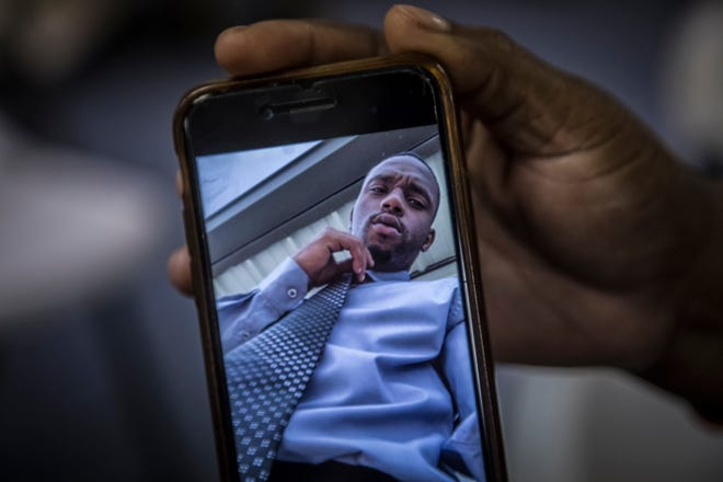 A photo of 24-year-old Jervonte Gibson, who was killed March 20, 2019, in the Pleasant City neighborhood of West Palm Beach. His mom, Kamisha Gibson, attended a Mothers Against Murderers Association meeting in West Palm Beach in May 2019.
