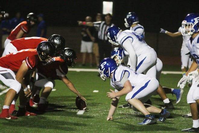 Perry football battles ADM in the regular season finale on Friday, Oct. 9 in Adel.