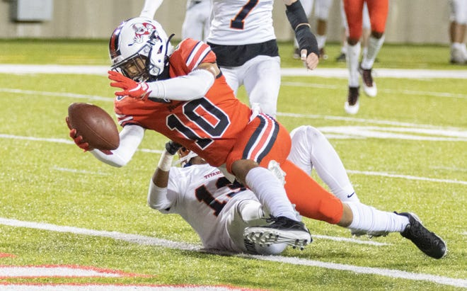 McKinley's Brian Pinkney goes in for a touchdown during the second quarter against Berea-Midpark on Friday, Oct. 9, 2020. (Special to The Canton Repository / Bob Rossiter)