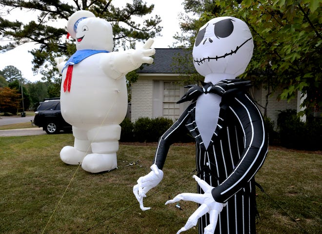 A Halloween yard display is seen at 369 Riverdale Drive in Tuscaloosa Friday, Oct. 9, 2020. [Staff Photo/Gary Cosby Jr.]