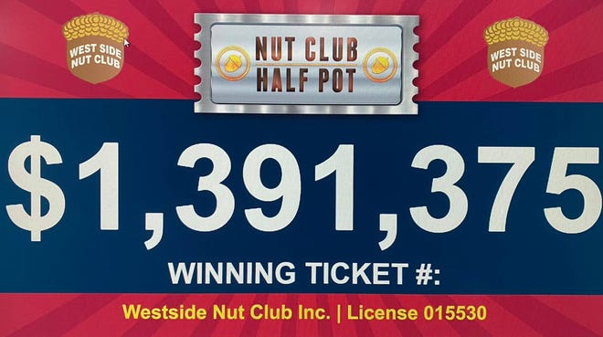 A banner on the Evansville West Side Nut Club's Facebook page announces the total of the Club's second annual Half Pot drawing.