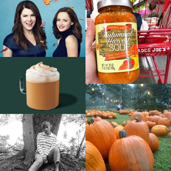 "Some fall favorites from your Arts and Culture section editors include ""Gilmore Girls,"" pumpkin spice chai lattes, Taylor Swift's ""folklore,"" Trader Joe's Autumnal Harvest Soup and pumpkin patches."