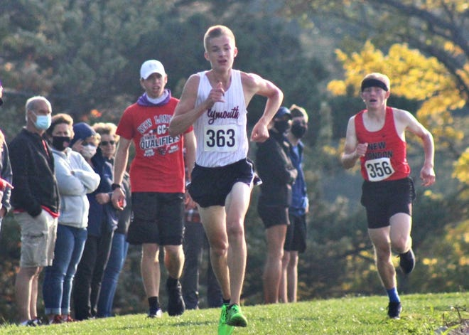 Plymouth's Levi Robinson made history for the second time in a 7-day span as he became Plymouth's first Firelands Conference individual champion on Saturday.