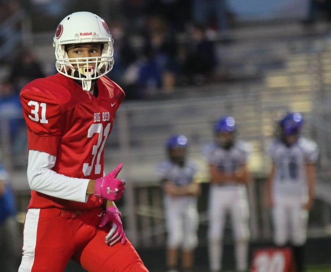 Plymouth's Kaden Allen had a standout freshman year for the Big Red and could be one of the best wide receivers in Richland County in 2021.