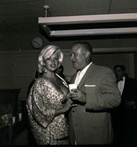 Gus Kettmann and actress Jayne Mansfield backstage at the 1962 Police Show.