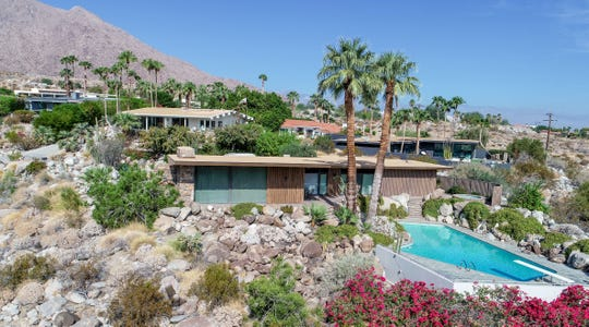 The Edris House sits nestled high on an alluvial fan below Mt. San Jacinto. The architecturally significant home was designed and built by E. Stewart Williams and will be a featured home during this year's Palm Springs Modernism Week.