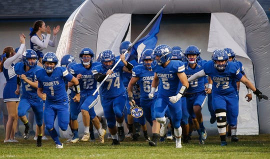 Marionville defeated Sarcoxie 48-12 in Marionville, Mo., on Friday, Oct. 9, 2020. The Comets remain undefeated this season.