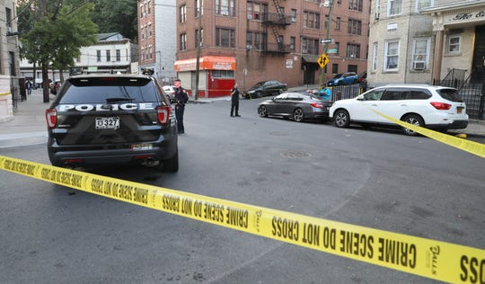 Yonkers police at Lawrence Street in the area of Bruce Avenue on Saturday, Oct. 10, 2020.