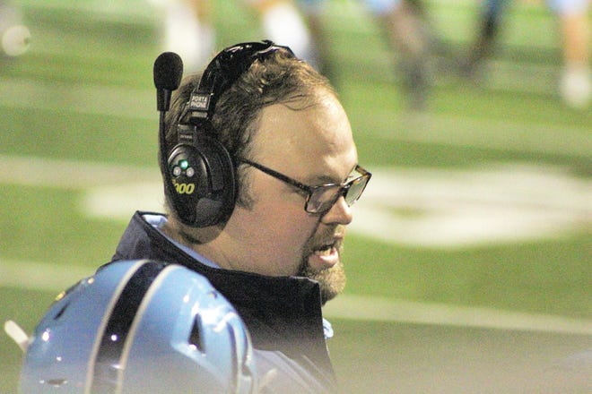 Bartlesville High School offensive line coach Anderson Hurd has molded a powerful unit that spearheaded the Bruins' 450-yard rushing output Friday at Muskogee.