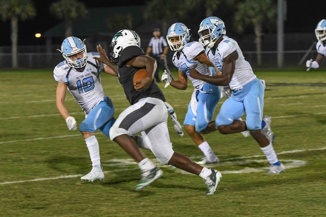 Bluffton hosted rival Hilton Head Island in Friday night's high school football action.