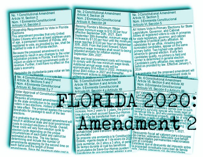 Florida's proposed constitutional amendments for 2020: Amendment 2 would raise Florida's minimum wage gradually until it hit $15 an hour.