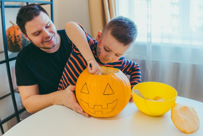 Rather than going out for Halloween, consider staying in and doing holiday activities like carving pumpkins, watching a spooky movie or doing a candy hunt.
