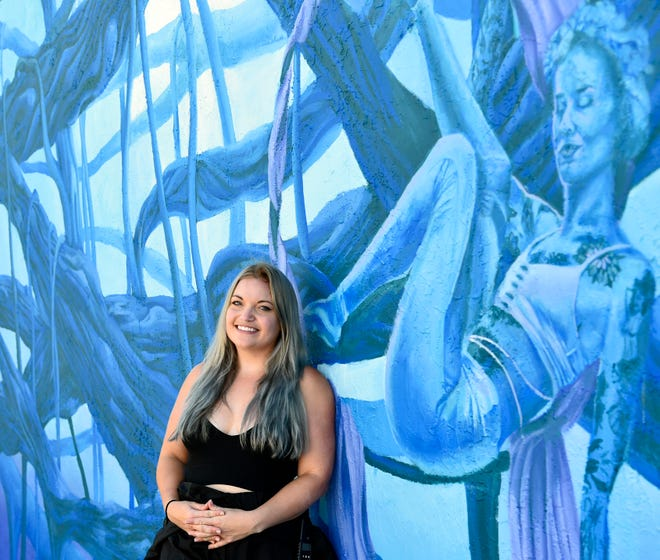 Sarasota native Danielle Dygert unveiled her latest mural, a commission from the city of Sarasota and the Arts and Cultural Alliance of Sarasota County, on Oct. 10 at 1526 Fruitville Road, on a wall of Todburn Antiques.