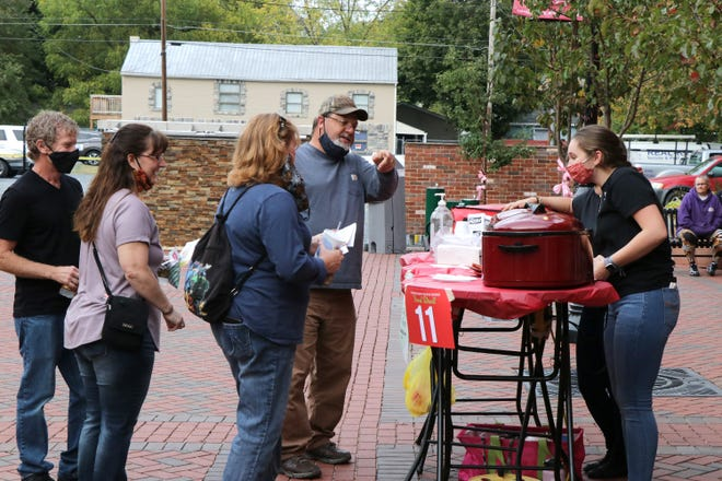 Samples from more than a dozen Waynesboro businesses were featured during Saturday's Downtown Food Stroll hosted by Mainstreet Waynesboro Inc.