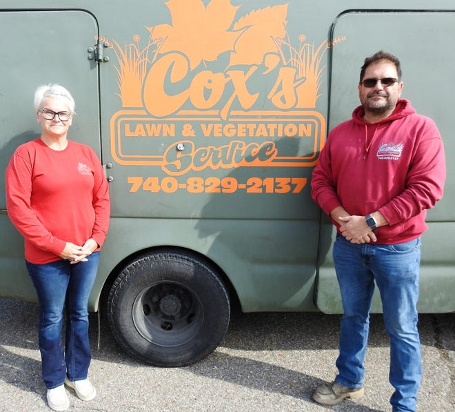 Heather and Greg Cox own and operate Cox's Lawn and Vegetation Service in Conesville. They recently moved into a new larger facility off of Ohio 16. They have more than 750 commercial and residential clients in 10 counties.