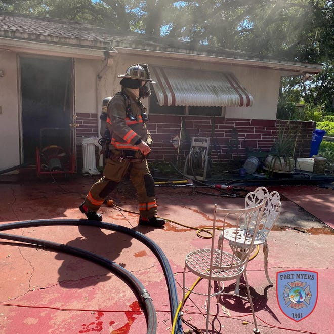 A fire Saturday afternoon caused widespread damage to the kitchen and living room of a home on Diana Avenue in Fort Myers.