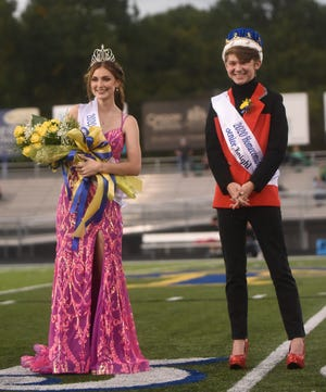 Seniors Levi Priborsky and Savannah Scott were crowned as Mountain Home's 2020 Homecoming King and Queen on Friday night. The other members of the homecoming court included sophomores Ty Lawrence, Jack Sheaner, Sadie Quick, and Trevi Sheaner; juniorsLuke Darracq, Kywren Adams, Ian Blair, Brianna Ifland, Bailey King and Rylee Patterson; and seniorsQuentin Brill, Ben Camp, Daxton Hickman, Clayton Jones, Whit Lawrence, Levi Priborsky, Lawson Stockton, Lauren Dewey, Sarah Godfrey, Grace Hilvert, Emma Martin, Emily Payne and Sophie Quick.