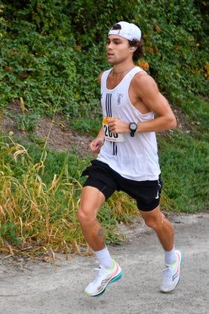 Collin Wainwright, of Springfield in Delaware County, won the York Marathon on Sunday.