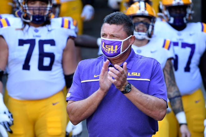 Ed Orgeron's LSU Tigers are now 1-2 after being upset Saturday at Missouri.