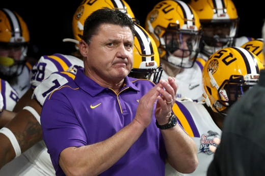 No. 2 Ed Orgeron, LSU: $ 8,918,500. After the Tigers won the College Football Playoff title last season, Orgeron got a new six-year contract. This year, he is making more than double what he made last season, in part, because he is getting the first of two $2.5 million life insurance premium payments by the Tiger Athletic Foundation, which is entitled to reimbursement from the policy's death benefits. The second payment will be made in 2021.