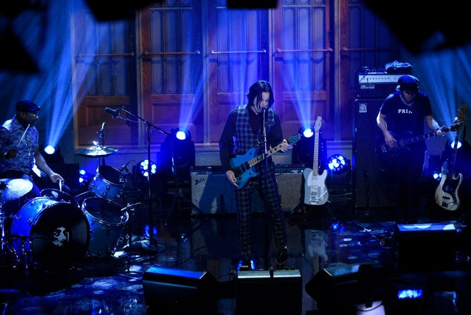 """""""SNL"""" Musical guest Jack White performs on Saturday, October 10, 2020."""