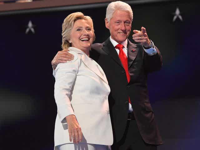 Bill and Hillary Clinton celebrate their 45th wedding anniversary