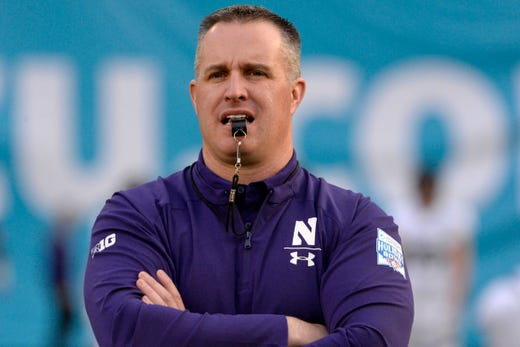 No. 14 Pat Fitzgerald, Northwestern: $ 5,218,658. Northwestern is a private school, so Fitzgerald's total compensation is from the university's most recently available federal tax returns, which cover the 2018 calendar year. The figure also includes bonuses and benefits paid. His total compensation shows a very slight raise of $73,721 from the amount reported for him in 2017.