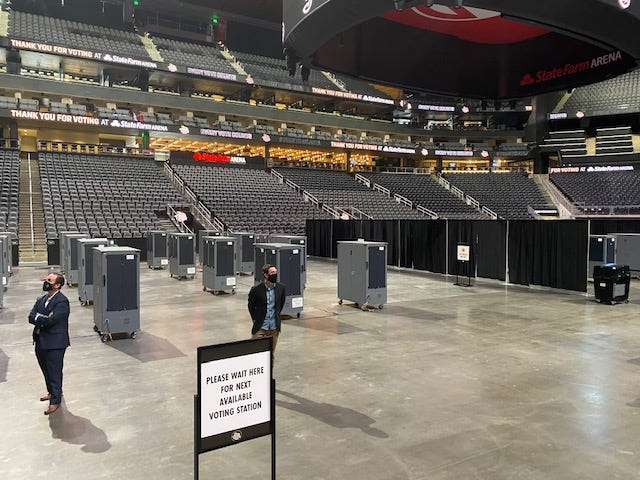 Could Atlanta Hawks' State Farm Arena swing the presidential race?