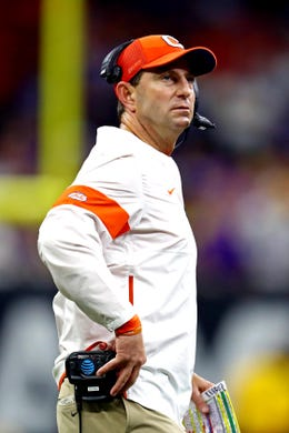 No. 3 Dabo Swinney, Clemson: $ 8,319,775. Swinney's recurring annual compensation is unchanged from last season. It was set to increase by $250,000 next season, but he is forgoing the raise, as well as a $1 million retention payment he had been due to receive if remained Clemson's head coach on Jan. 15, 2021, to help the school deal with the financial strain of the COVID-19 pandemic.