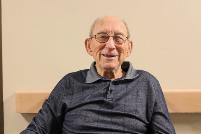 Kirby is a World War II veteran at The Good Shepherd.