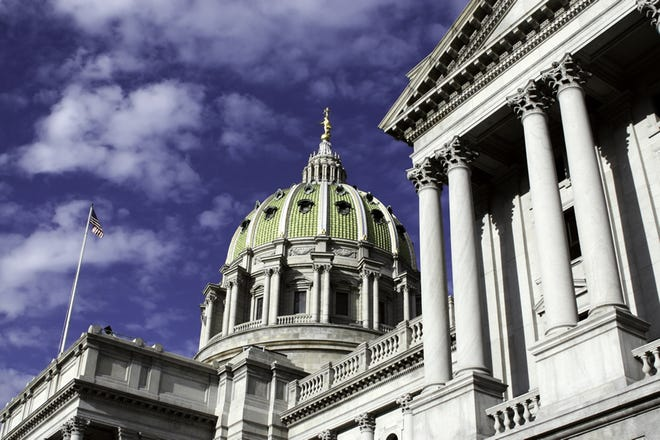 This is an undated file photo of the Pennsylvania Capitol in Harrisburg.
