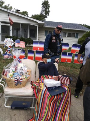 And Richard Sprow's still marveling about the drive-by vehicle parade that his neighbors in the Blue Ridge section of Bristol Township, the John Billington VFW Post 6495 in Levittown, Warrior Watch and several fire companies gave him Saturday to mark the special occasion.