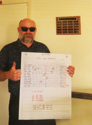 Christopher Weir won the Las Animas/Bent County Golf Thursday Night Men's Golf League championship on Sept. 26