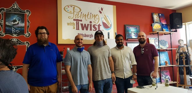 Friends Charities will provide $500 or more in scholarships and professional mentoring to high school students pursuing STEM-related careers. The five founders, from left, are Sean Dickey, Matthew Lorusso, Chantz Wain, Raja Jasper, and Andrew Lacey.