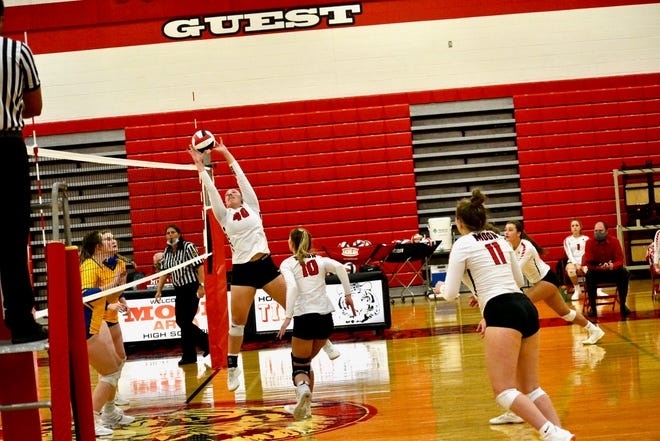 Moon setter Meagan Robare has helped lead the Tigers to an undefeated record.