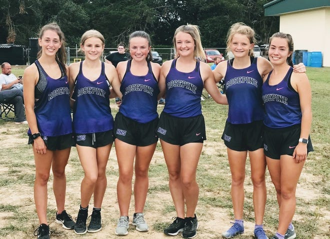 The Rosepine Eagle and Lady Eagle cross country teams continued their dominant season on Wednesday by sweeping the team and individual titles at the Pine Prairie Run