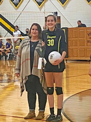 The Bunceton/Prairie Home coop volleyball team recently held senior recognition night. Kaelyn Crews, Prairie Home Senior, pictured with her mother, Heather Crews, was among those recognized.