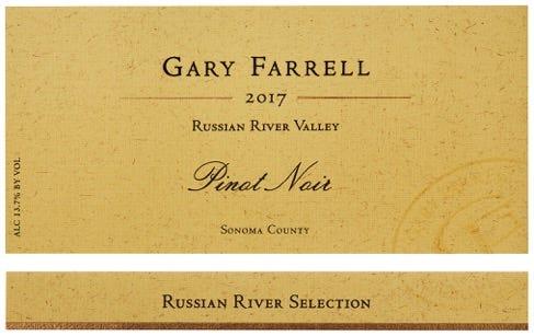 2017 Gary Farrell Russian River Valley pinot noir